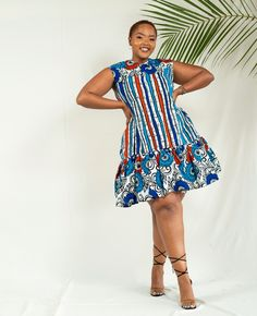 African Dresses For Kids, Latest African Fashion Dresses, African Print Dresses, African Print Shirt, African Print Fashion, Kitenge, African Attire, Short Dresses, Queen