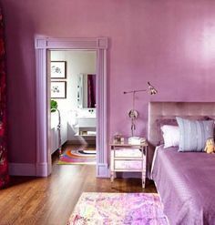 And what better way to start off the new year than with Pantone's 2014 Color of the Year? Pantone has announced that the color of the year is …Read Lavender Walls, Lavender Decor, Bedroom Color Schemes, Bedroom Colors, Bedroom Decor, Lilac Bedroom, Purple Bedding, Baby Bedding, Linen Bedding