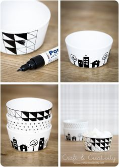 Drawing on porcelain tablewear. - Mix & Match - Good Ideas For You
