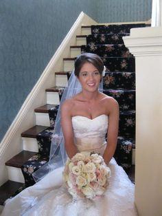 Posing on the grand staircase www.whitlockinn.com 770-428-1495