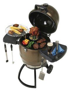 jedzenie na grillu węglowym keg