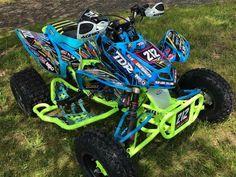 Kolton Csuhta has one sick bike for sure Sport Atv, Custom Sport Bikes, Triumph Motorcycles, Custom Motorcycles, Bobbers, Atv Motocross, Fox Racing, Auto Racing, Atv Riding