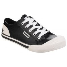 Jazzin Lace Up Black Sneakers