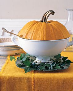 Fall's Tureen Topper - Martha Stewart Holidays