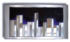 Citiscape Skyline Handcrafted Wall and Mirror Art