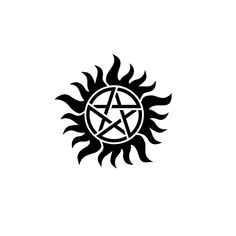 Winchester by Miguel Romero is a Gaming & Fandom tattoo from inkbox Supernatural Anti Possession Tattoo, Supernatural Tattoo, Supernatural Quotes, Anti Possession Symbol, Geometric Owl Tattoo, Vinyl Decals, Traditional Tattoo, Tattoo Drawings, Tatoo