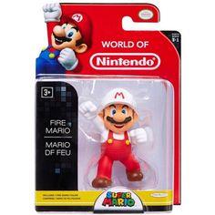 World of Nintendo Super Mario Fire Mario Action Figure