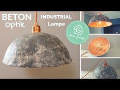Pappmache Lampenschirme in Gold-/Betonoptik selber machen - DIY - YouTube