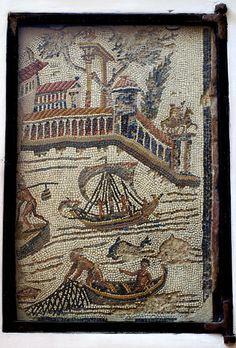 Rom, Santa Maria in Trastevere, römisches Mosaik aus augusteischer Zeit (Roman mosaic of the Augustan period) | Flickr - Photo Sharing!