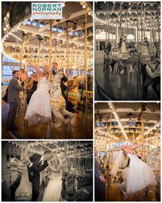 Adorable carousel wedding photos!!