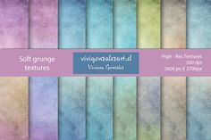 Check out Soft grunge textures by ViviGonzalezArt on Creative Market