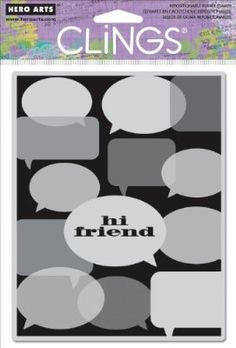 Hero Arts Cling Stamps-Hi Friend