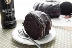 dark chocolate guinness cake slice