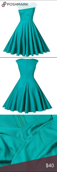 NWT Retro 50s style swing dress Retro 50s style swing dress. New with tags. Unfortunately it doesn't fit me ☹️😭 beautiful teal color. Dresses