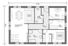 BGXL5 Bungalow Grundriss 117qm 4 Zimmer House plans