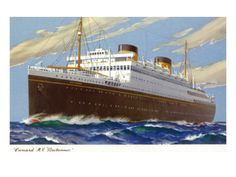 View of Cunard Ocean Liner Britannic brought a friend to the US many years ago.