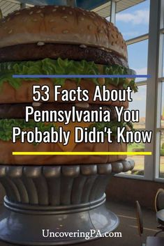 Looking for facts about Pennsylvania? I've compiled 53 unique Pennsylvania facts from my four years traveling PA that you probably don't know. Gettysburg Pennsylvania, Pennsylvania History, Altoona Pennsylvania, Places To Travel, Places To Go, Travel Articles, Travel Usa, Usa Roadtrip, Pittsburgh