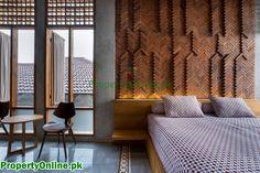 Colorful Bedroom Designs & Ideas Arty Bedroom, Bedroom Red, Modern Bedroom, Feature Wall Bedroom, Bedroom Wall Colors, Home Luxury, Magazine Design, Design Furniture, Interior Walls