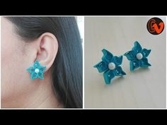 How to make quilling stud earrings / Quilling jewellery making Quilling Studs, Paper Quilling Earrings, Quilling Flower Designs, Quilling Patterns, Paper Bracelet, Paper Jewelry, Silk Thread Earrings, Pearler Beads, Polymer Clay Crafts