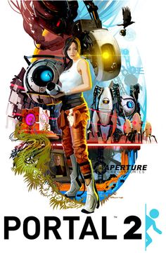 Portal 2 70s style movie poster