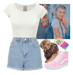 """Walk w/ Loren"" by baeisme ❤ liked on Polyvore featuring Topshop and Vans"