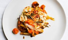 Say cheese: baked halloumi with tomatoes