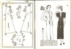 Lutterloh spring 1939  Lutterloh, vintage patterns, vintage fashion, custom size pattern, pattern drafting, patterns, sewing, diy