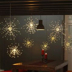 Patio Lighting, Modern Lighting, Outdoor Party Lighting, Tree Lighting, Lighting Design, Fairy Lights Room, Starburst Light, Hipster Room Decor, Teen Decor