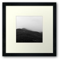 Foggy Mountains Framed print by ARTbyJWP via redbubble #walldeco #wallart #homedecor #framedartprint #mountains -   Black and white capture of foggy mountains in a beautiful winter scene. • Also buy this artwork on wall prints, apparel, stickers, and more.