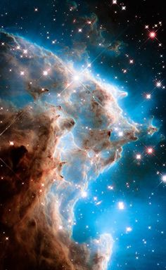 Hubble Space Telescope Star Forming Region 2174 Hubble Palette Credit: NASA/Hubble, color/effects thedemon-hauntedworld - Space Planets, Space And Astronomy, Space Photos, Space Images, Nasa Space Pictures, Telescope Pictures, Fotos Do Hubble, Cosmos, Hubble Pictures