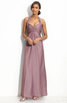 Graceful Sheath / Column Halter Floor-length Bridesmaid Dress - Storedress.com