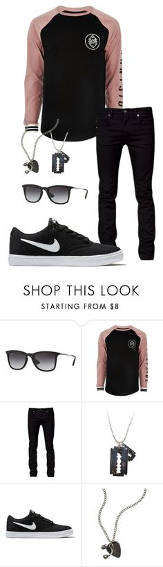 """""""Untitled #55"""" by mysticgamer ❤ liked on Polyvore featuring Ray-Ban, River Island, Tiger of Sweden, NIKE and American Eagle Outfitters"""