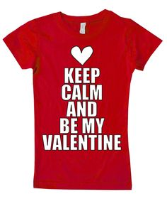 Keep Calm and Valentine Fitted Tee