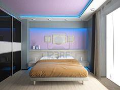 Modern interior of a 3D chambre à coucher Banque dimages