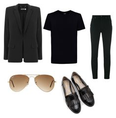 All black with flats by riseandriseandrise on Polyvore featuring polyvore fashion style Mint Velvet Dolce&Gabbana Boden Ray-Ban Kloters Milano clothing