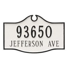 Montague Metal Products Colonial Standard Two Line Address Sign Plaque Finish: Brick Red/Silver