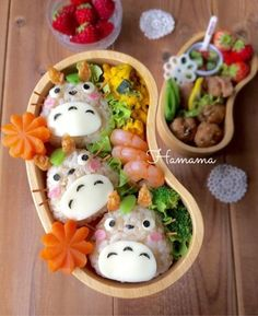 These Japanese-style kawaii bento box ideas will inspire you to make your own be. - These Japanese-style kawaii bento box ideas will inspire you to make your own bento box lunch for k - Bento Box Lunch For Kids, Vegan Lunch Box, Cute Lunch Boxes, Kawaii Bento, Food Kawaii, Desserts Japonais, Japanese Bento Box, Japanese Food, Little Lunch