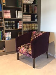 Bespoke modern tub chair in two Designers Guild velvets. Designers Guild, Bespoke Sofas, Cushion Filling, Tub Chair, Sofa Bed, Cribs, Armchair, British