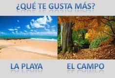 ¿Qué te gusta más?  - pinned from 1001 Reasons to Learn Spanish via Facebook