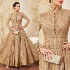 Gorgeous Beige Net Anarkali Churidar Suit With Dupatta Online. Please msg or whatsapp at 0169179180 for order details. #andaazfashion #ootd #weddingdress #wedding #queen #trends #inspiration #like4like #likeforlike #likeforfollow #followforfollow #follow4follow #followme #designer #fashionblogger #fashion #anarkali #malaysia #chic #classy #instagram