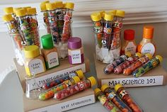 mad science party favors -- see the website for more cool ideas