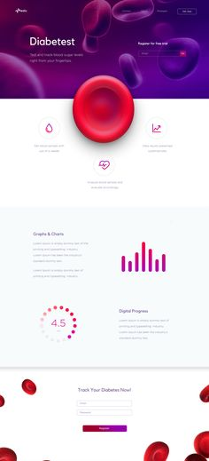 "Check out this @Behance project: ""Diabetest Landing Page"" https://www.behance.net/gallery/46736899/Diabetest-Landing-Page"