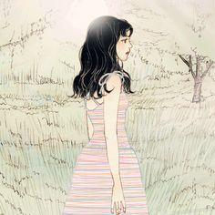 """의식의 흐름대로. (Following the stream of consciousness.) I was walking in a forest. Rather, I was wandering around. 숲 속을 걷고 있었다. 보다는 헤매고 있었다. """"Where was I headed to?"""" I was walking straight ahead. """"나는 어디를 향해 가고 있었던 걸까?"""" 앞만 보고 가고 있었다. Then something came in mind,""""Where did I come from?"""" 문득, """"나는 어디서 오는 길 이었을까?"""" As soon as I looked back, 뒤를 돌아 보는 순간. I got out from the forest. 나는 그 숲에서 빠져 나왔다."""