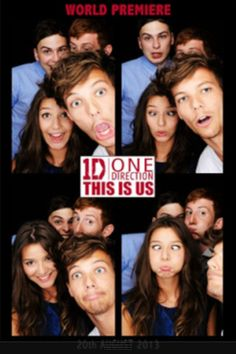 Louis, Eleanor, Stanley and Friend in 1D This Is Us photo booth