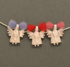 Schutzengel Anhänger - Schutzengel mit bunten Haaren - ein Designerstück von schmucker_schmuck bei DaWanda