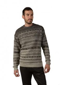 Moss Sweater - Original Sweater with a unique pattern design and a round Neck. Perfect for any occasion (Composition: 100% Baby Alpaca)