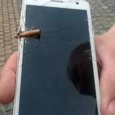 Ukrainian soldier's phone shot by a Russian sniper.