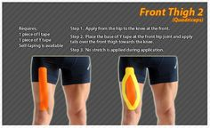Kinesiology taping instructions for the front thigh #ktape #thigh #ares