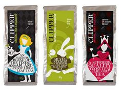 Clipper teas Alice in Wonderland packaging