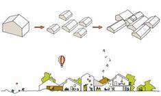 Lumo.dk: Fremtidens Børnehjem Kerteminde Architecture Panel, Architecture Visualization, Architecture Drawings, Architecture Portfolio, Concept Architecture, Architecture Diagrams, Architecture Design, Urban Design Concept, Urban Design Diagram